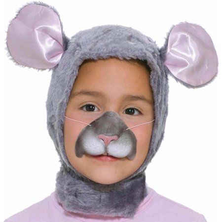 Kids Mouse Hood & Nose Set - Costume Animal Noses