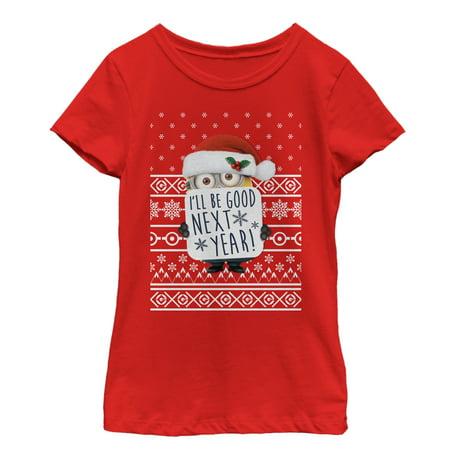 Despicable Me Girls' Christmas Good Minion T-Shirt - Despicable Me Girl