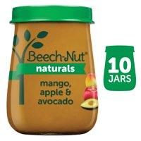 (10 Pack) Beech-Nut Naturals Stage 2, Mango Apple & Avocado Baby Food, 4 oz Jar