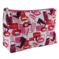 Clinique Red & Pink Lipstick and Lips Cosmetic Makeup Travel Bag