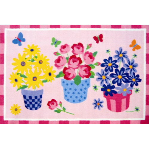 Fun Rugs Olive Kids Blossoms and Butterflies Flower Area Rug