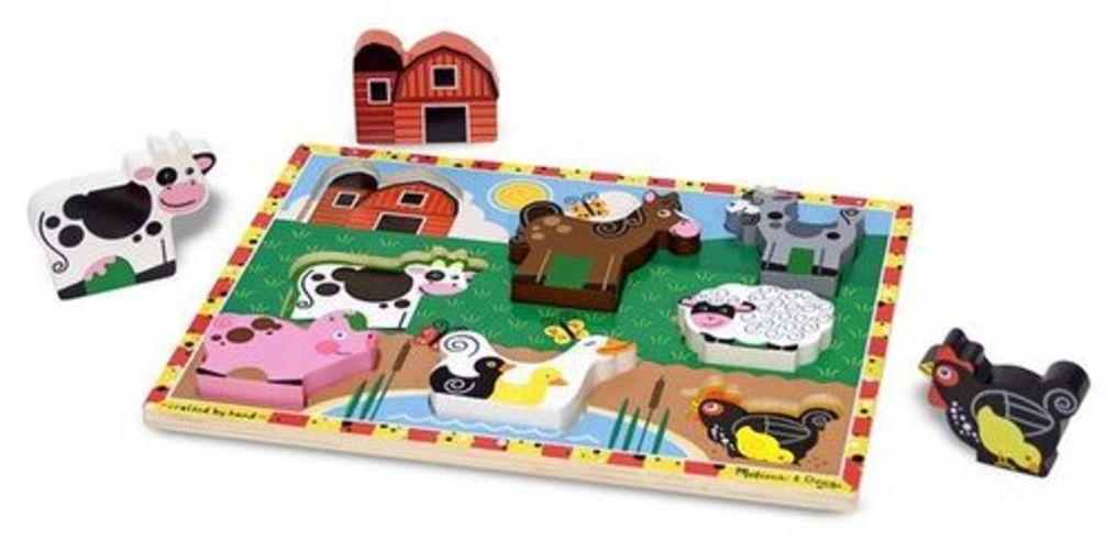 Melissa & Doug Farm Wooden Chunky Puzzle (8 pcs) by Melissa & Doug