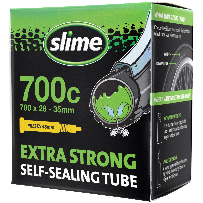 Slime Self-Sealing Smart Replacement Bike/Bicycle Inner Tube, Presta 700x28-35mm - 30086