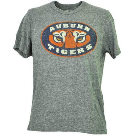 Ncaa Auburn Tigers Felt Logo Gray Tshirt Tee Mens Short Sleeve Adult Sports Xl