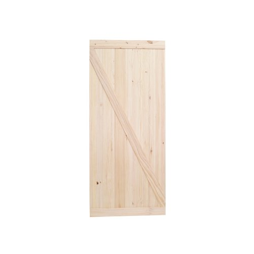 Calhome Reverse Z Knotty Pine Wood Unfinished Prehung Door