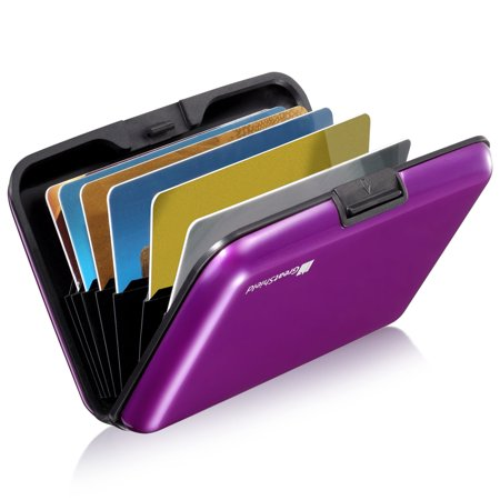 GreatShield RFID Blocking Wallet [8 Slots | Aluminum] Portable Travel Identity ID / Credit Card Safe Protection Card Holder Hard...