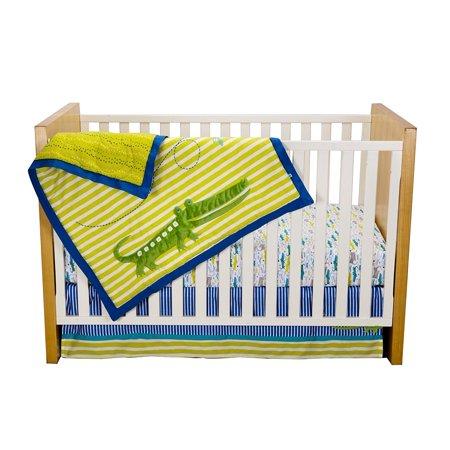 Kidsline Zutano Crib Set Alligators 4 Piece