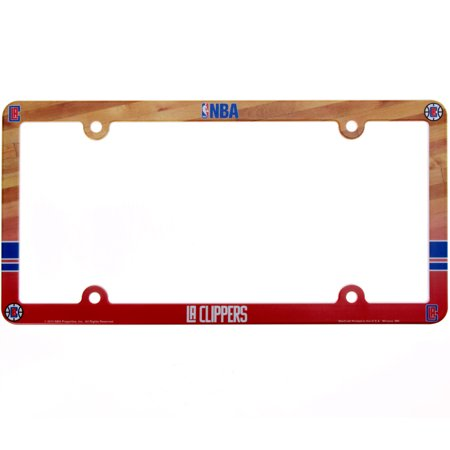 LA Clippers Court Plastic License Plate Frame - No Size