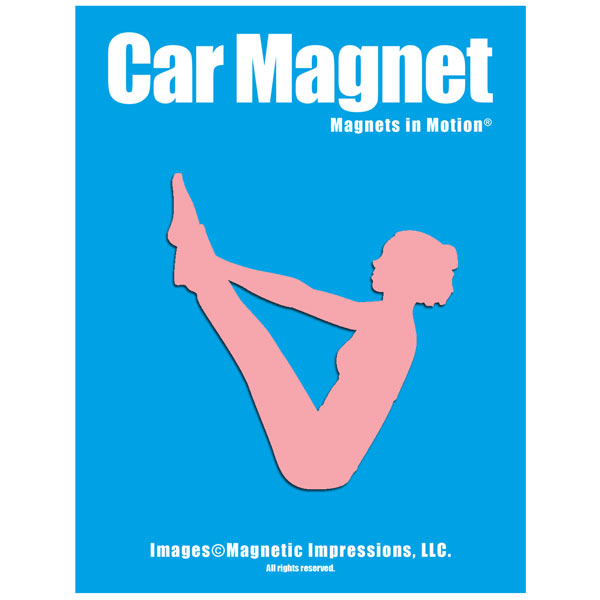 Yoga Female Car Magnet