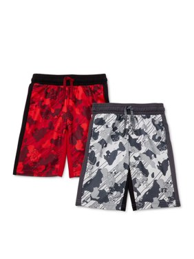 Russell Boys 4-18 2-pack Camo Printed Active Shorts