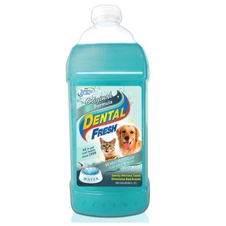 Dental Fresh Water Additive for Dogs - Clinically Proven Original Formula, 1/2 Gallon