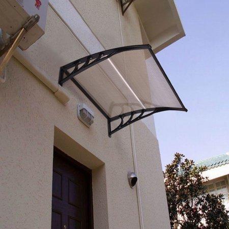 - Costway 40''x 40'' Window Awning Door Canopy Outdoor Front Door dark brown