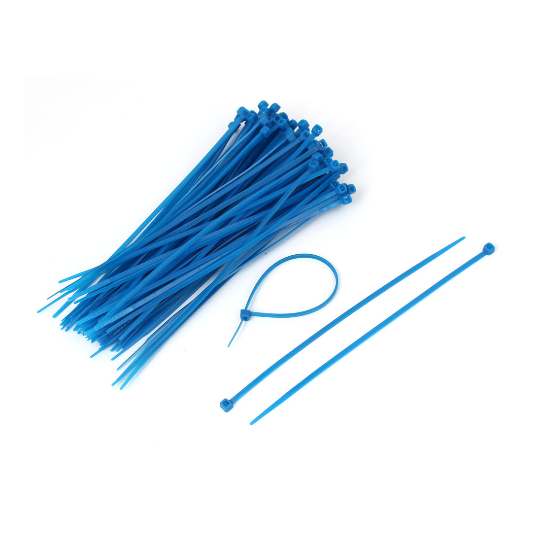 Network Cable Cord Wire Zip Ties Straps Blue 3mm Width 100 Pcs