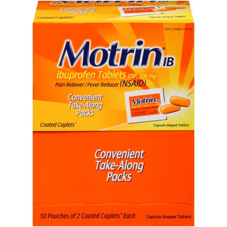 Motrin IB, 50 Count, Pack Of 2