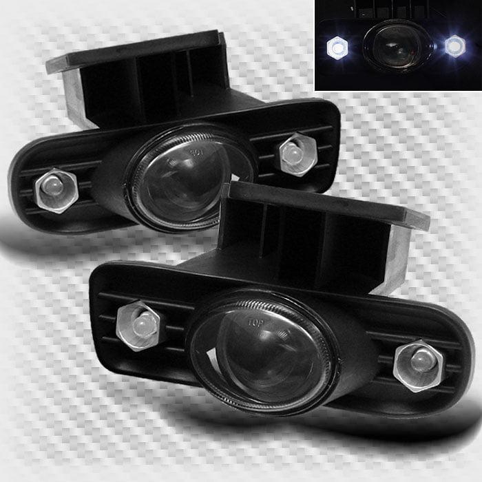 Smoke 1999-2002 GMC Sierra/2000-2006 GMC Yukon LED Projector Fog Lights+Switch+Bulb 2000 2001 Pair Left+Right
