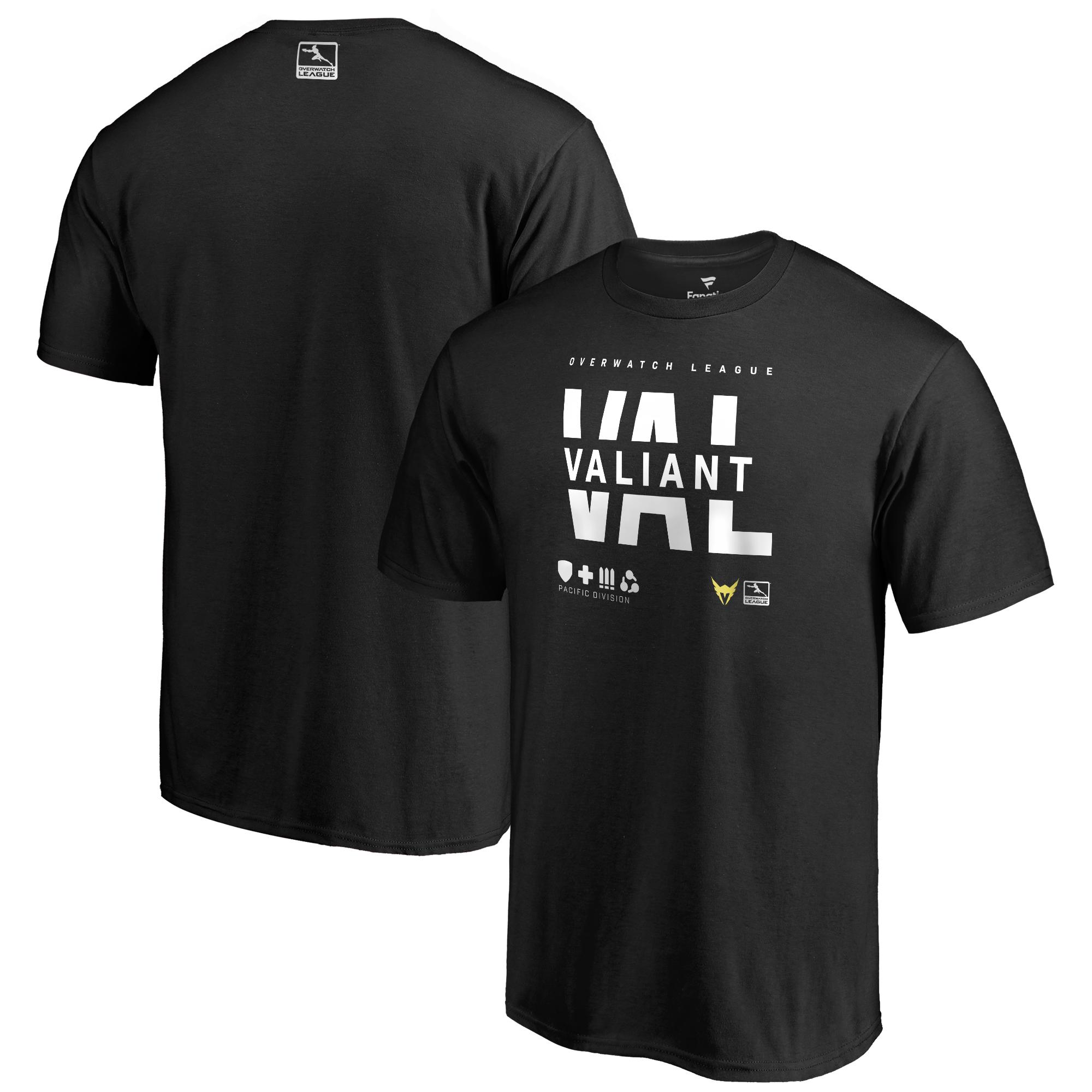 Los Angeles Valiant Fanatics Branded Overwatch League Splitter T-Shirt - Black