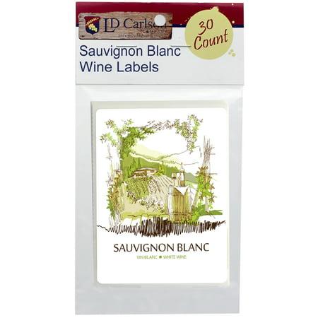 Sauvignon Blanc Syrah Wine (Sauvignon Blanc Self Adhesive Wine Labels 30 count)