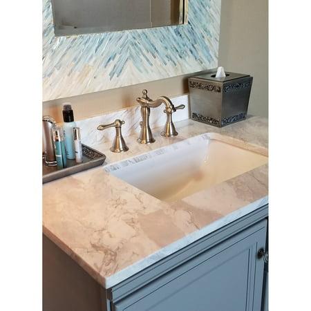 Fontaine  Bellver Brushed Nickel Widespread Bathroom Faucet