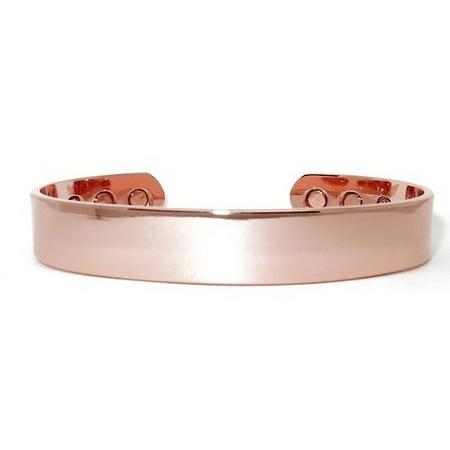Copper Solid Bracelet - Real Man\'s Choice Solid Copper - Magnetic  Bracelet