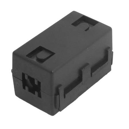 Unique Bargains New 6.5mm Dia Cable Black Clip On EMI RFI Noise Ferrite Core Filter