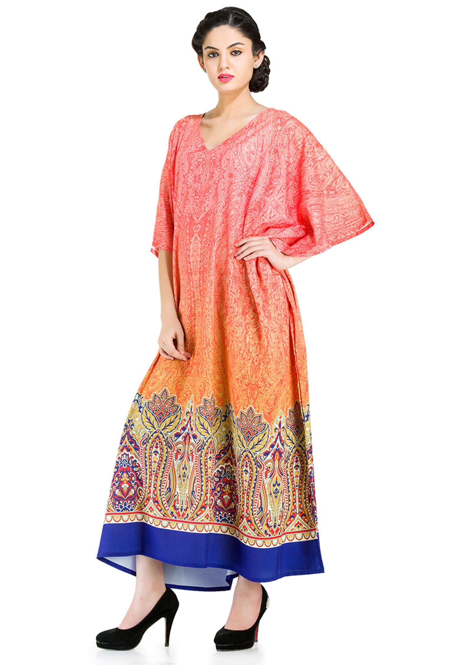 16c6ba2534862 Goood Times - Multicolor Kaftan Dresses for Women Summer Beach Wear Kimono  Maxi Cover Up Women's Long Caftan Dresses for Women Loose Floral Kaftans  Night ...
