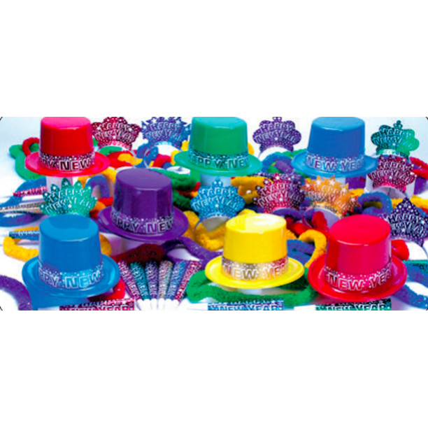Multicolored New Years Eve Party Accessories Kit Party ...