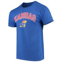 Men's Russell Royal Kansas Jayhawks Core Print T-Shirt