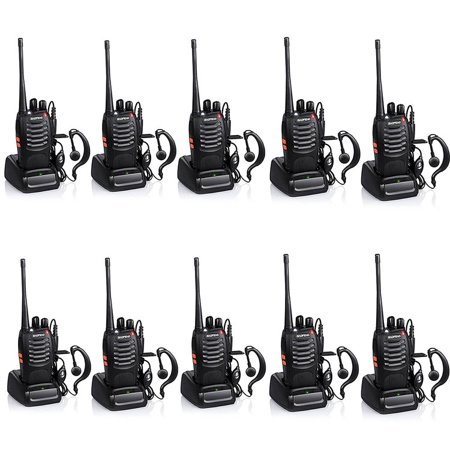 Walkie-Talkie 2-Way Radios,UHF Handheld Radio, BaoFeng BF-888S Two Way Radio with Built in LED FlashLight (Pack of 8)
