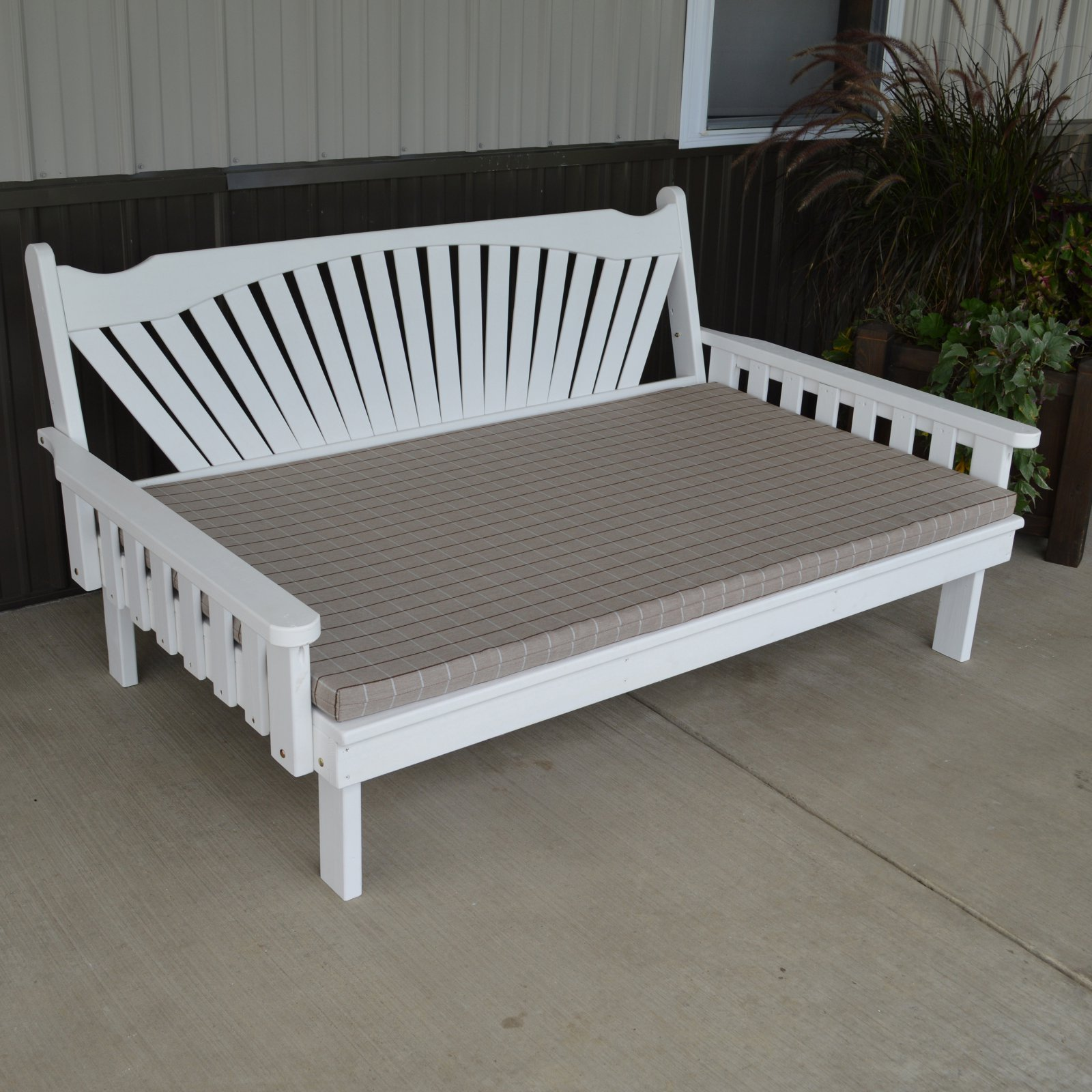 A & L Furniture Yellow Pine Fanback Daybed