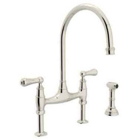 Rohl U4719 Perrin and Rowe Bridge Kitchen Faucet, Available in Various Colors