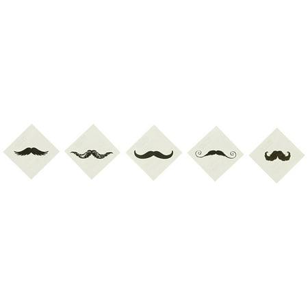 Fingerstache Movember Mustache Party Tattoos (72 Pack), Fingerstache Tattoo Assortment By Fun Express](Mustache Tattoo)