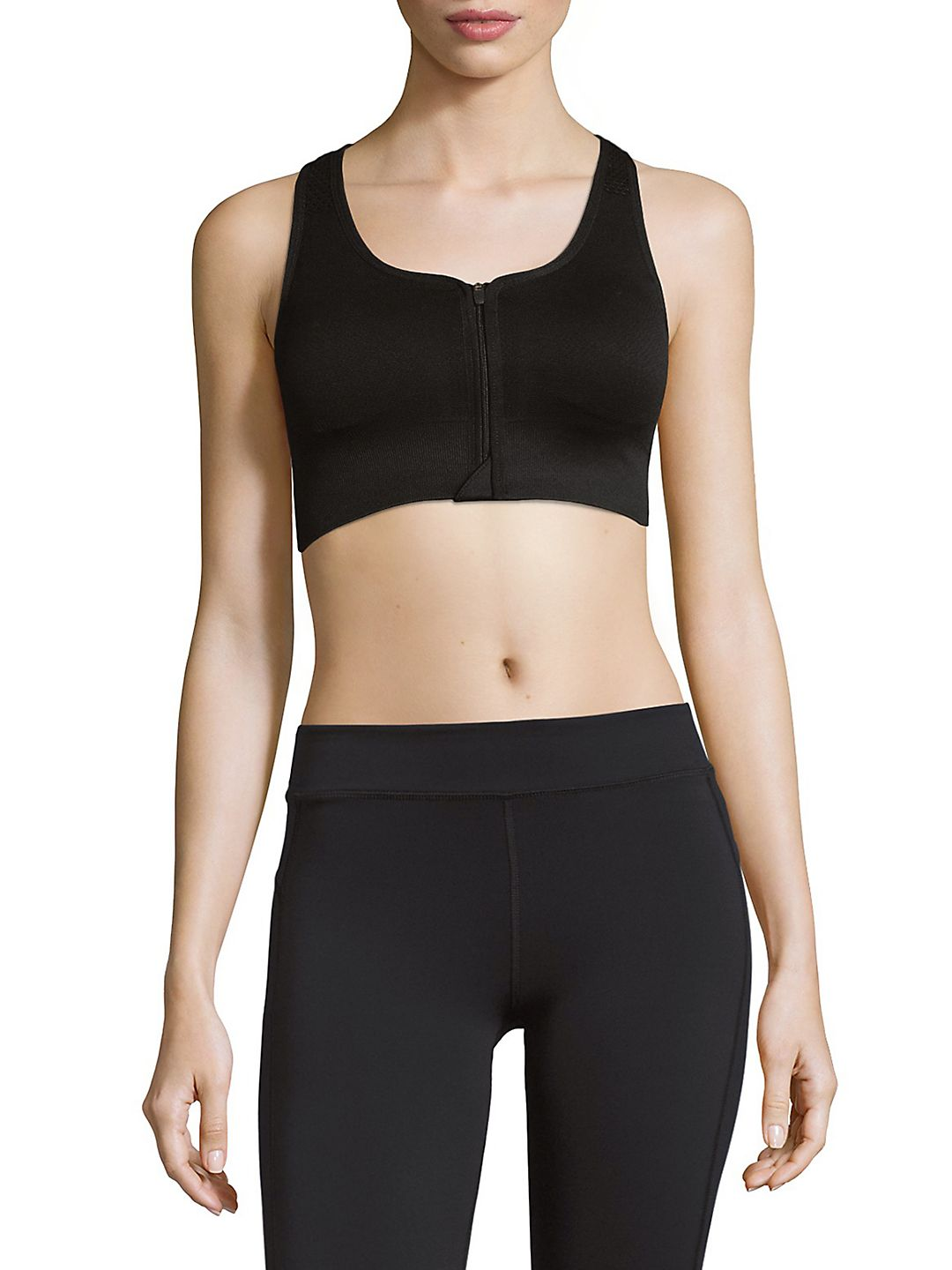 Seamless Zip-Front Sports Bra