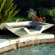 Square Fiberglass Cubic Scupper Outdoor Fountain