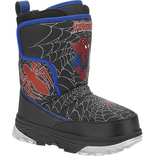 Marvel Boys' Spiderman Light-Up Winter Boots