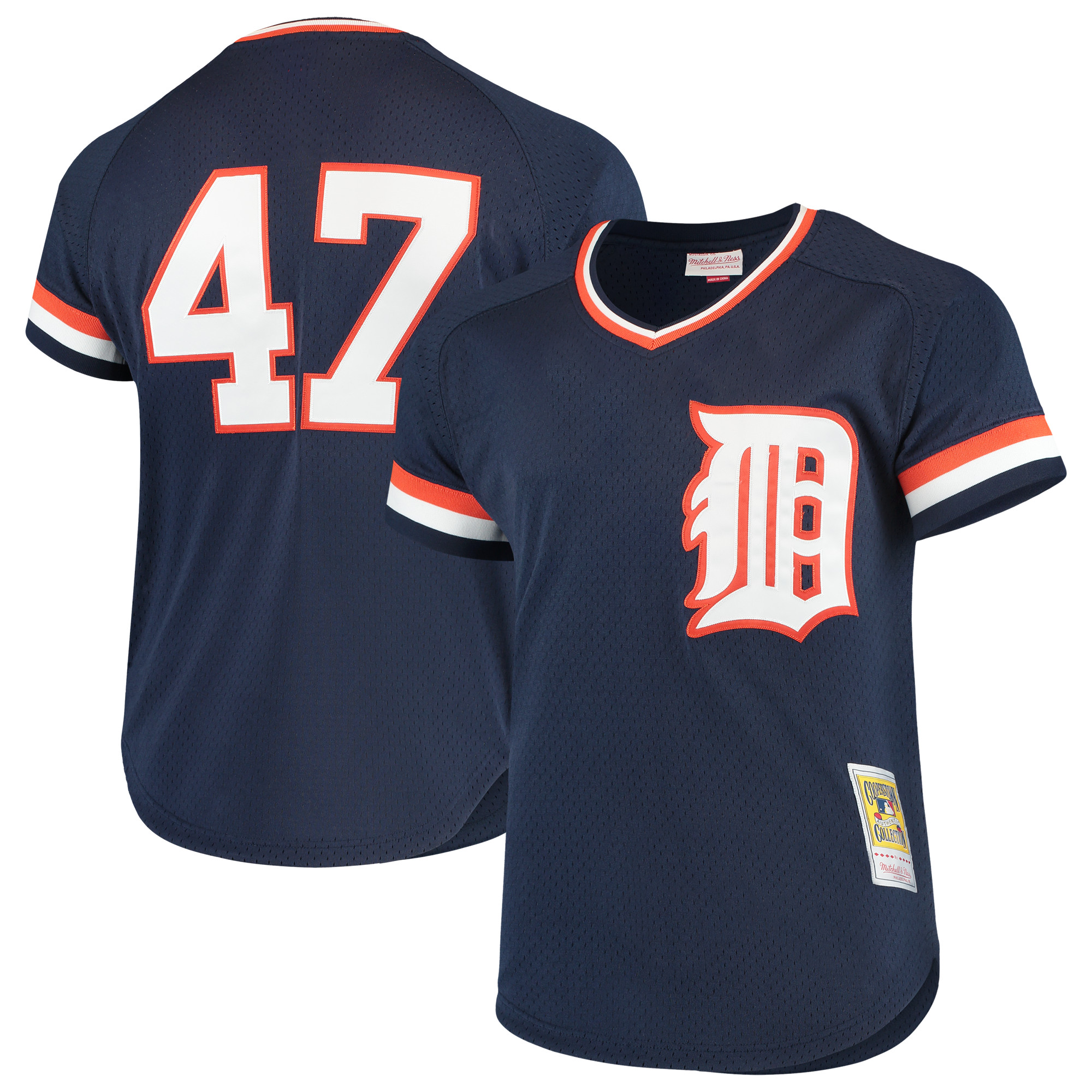 Jack Morris Detroit Tigers Mitchell & Ness Cooperstown Collection Mesh Batting Practice Jersey - Navy