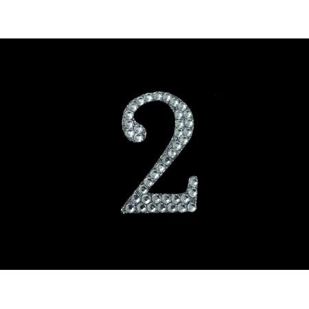 BalsaCircle 10 pcs Numbers Rhinestones Glittered Gem Stickers - Wedding Party Favors Decorations DIY Craft