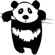 "Panda Kids Boys Bed Room Picture Art 16""X16""- Peel & Stick Vinyl Wall Decal Sticker"