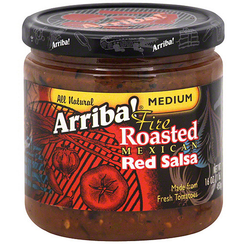 Arriba Medium Fire Roasted Mexican Red Salsa, 16 oz (Pack of 6)