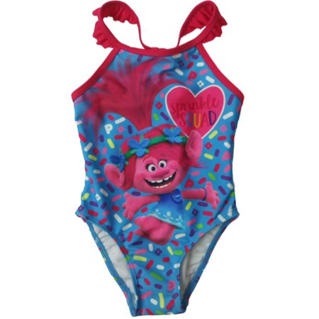 91ac8d23c0 Trolls - Infant Toddler Girls Trolls Princess Poppy Sprinke Squad 1 Piece  Swimming Suit - Walmart.com