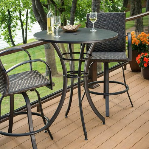 Outdoor GreatRoom Empire Round Pub Table by The Outdoor GreatRoom Company