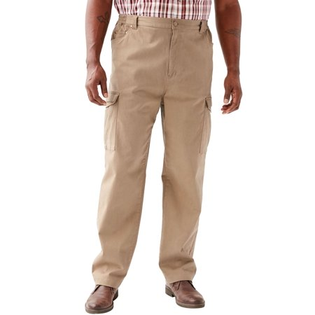 Kingsize Men's Big & Tall Flex Knit Cargo Pants Big And Tall Mens Pants