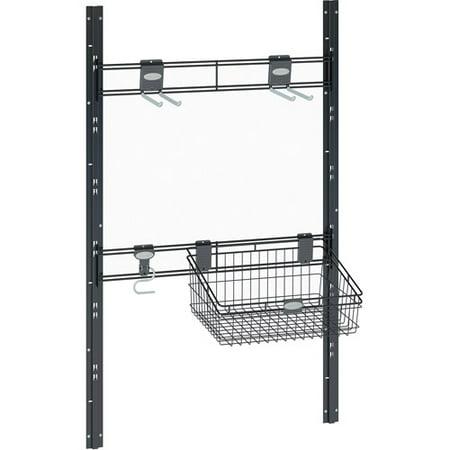 Black Outdoor Wall Bracket (Bracket, Hook and Basket Kit for Suncast Sierra and Everett Sheds, Black,)