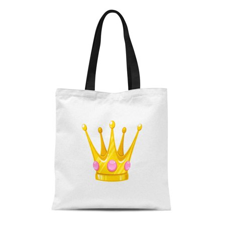 ASHLEIGH Canvas Tote Bag King Crown for Princess Royal Antique Authority Award Cartoon Durable Reusable Shopping Shoulder Grocery (Award Tote)