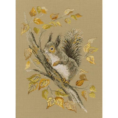 """RTO Counted Cross Stitch Kit 9.75""""X13""""-Autumn Story (14 Count)"""