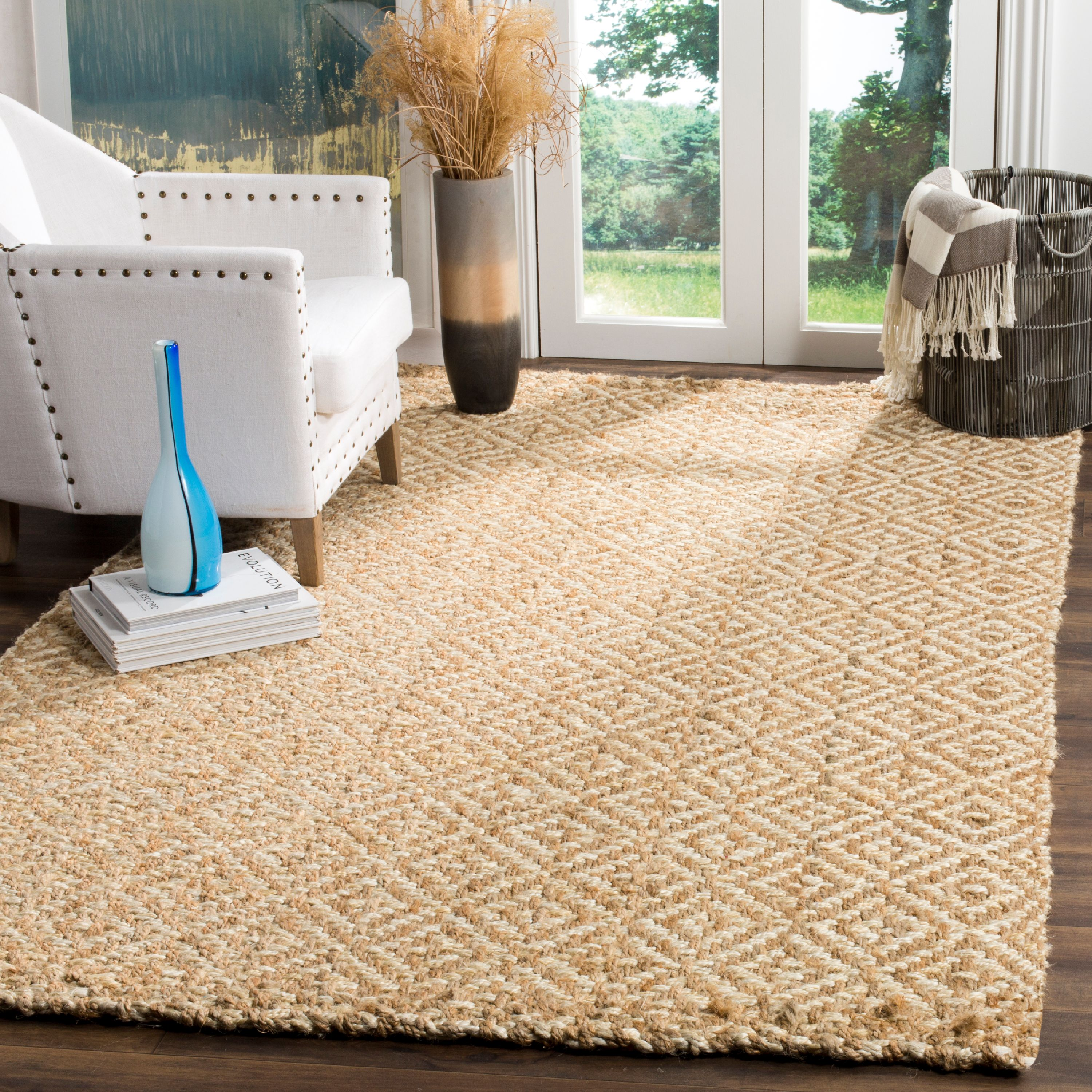 Safavieh Natural Fiber Tashi Geometric Diamond Braided Area Rug or Runner