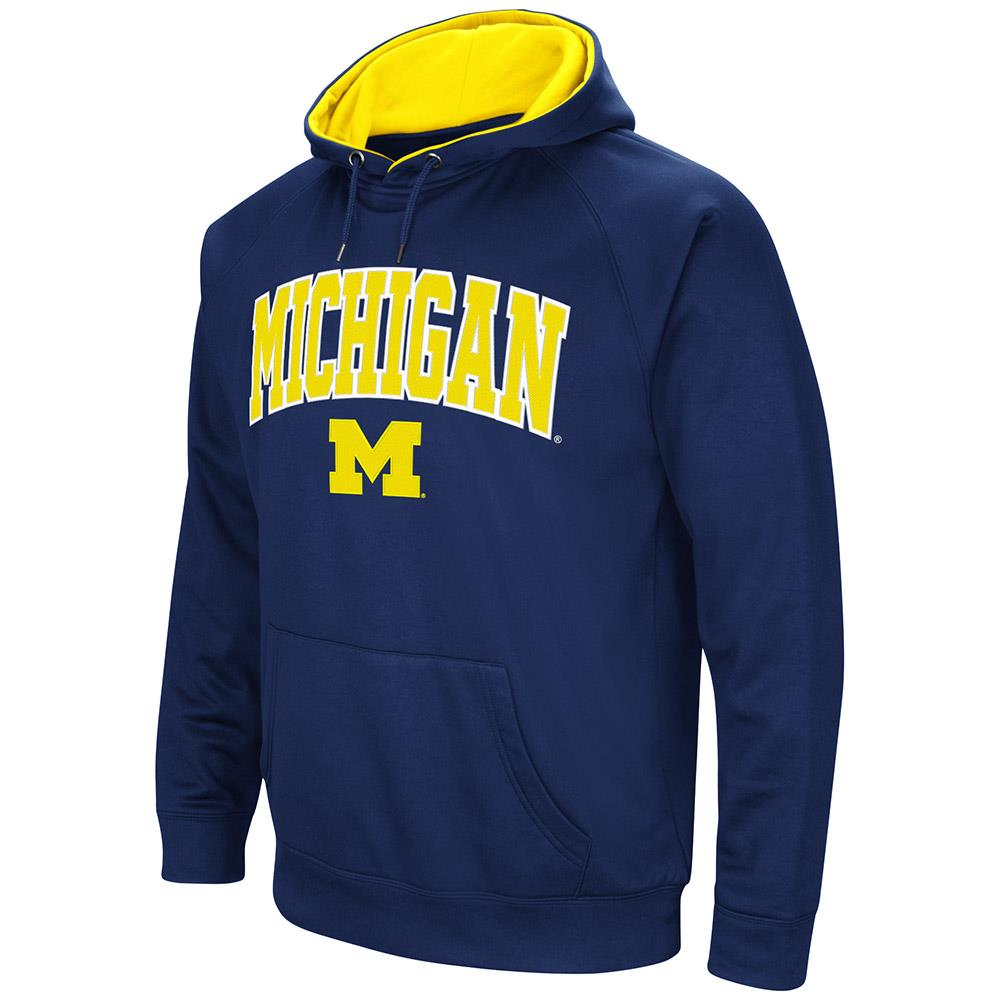 Mens Michigan Wolverines Fleece Pull-over Hoodie by Colosseum