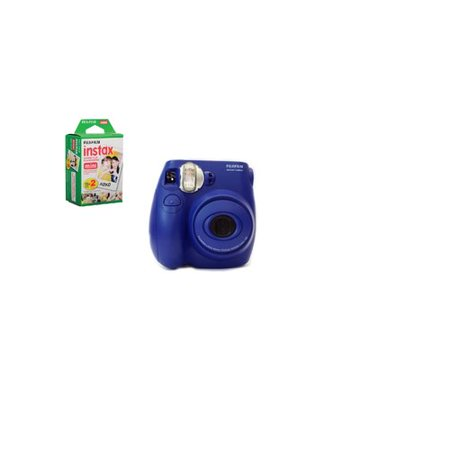 Fuji Film Instax Mini 7S Instant Camera with Fuji Film Mini Film 10pk Value Bundle (blue)