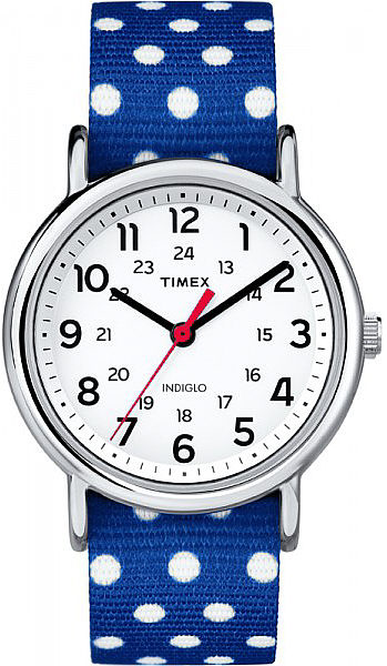 Women's Timex Weekender Dots Reversible Nylon Strap Watch TW2P66000 by Timex