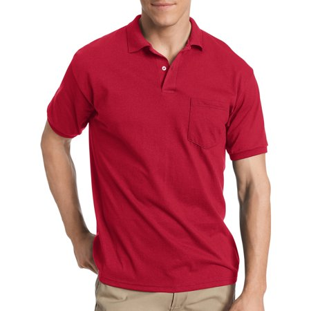 - Big Men's Comfortblend EcoSmart Jersey Polo with Pocket