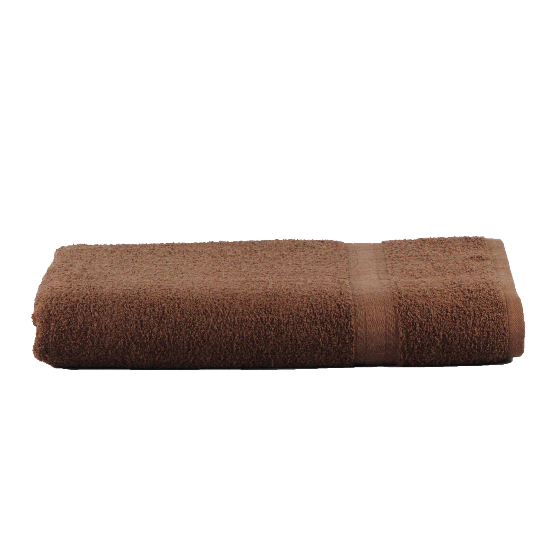 Mainstays Basic Bath Collection - Single Bath Sheet, Solid Chocolate Brown
